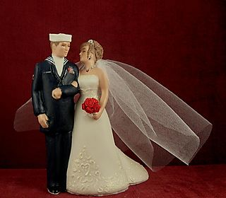 Naval wedding cake topper