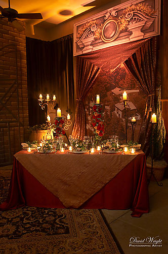 Rustic Candelabra with Roses