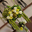 Elegant Candelabra with hanging amaranthus
