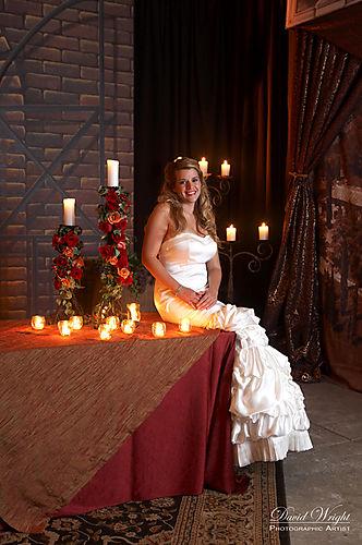 Woven rose centerpieces