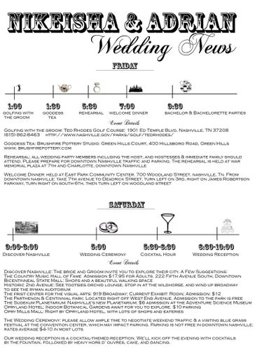 wedding newsletter