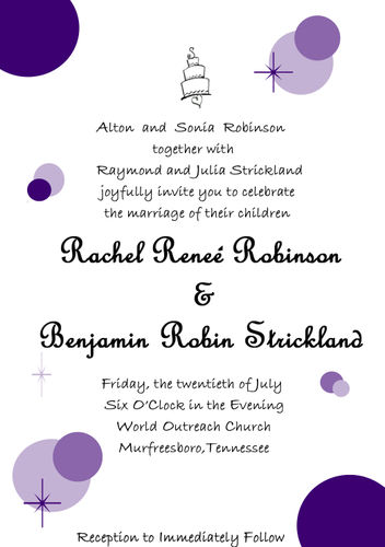 purple circle invitations