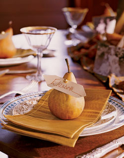 pear placecard