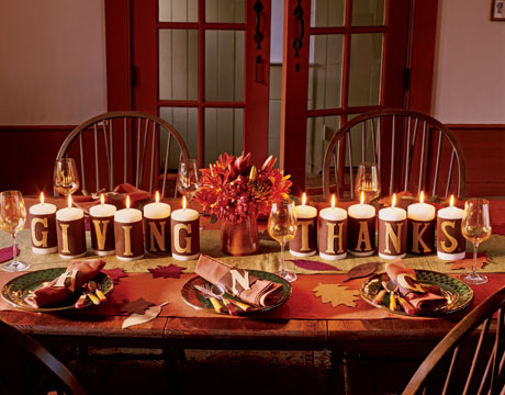 Giving thanks candle display