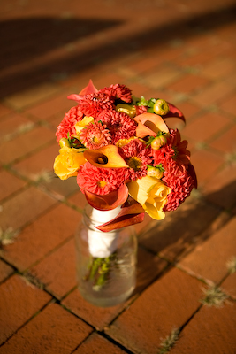 Dahlia,calla lily and rose bouquet-1
