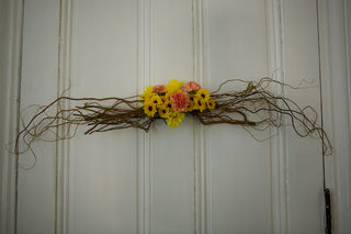 Rustic Wood Floral Wreath