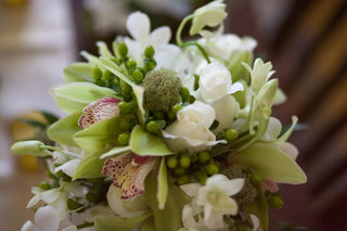 cymbiduim orchid and dendrobium orchid bouquet