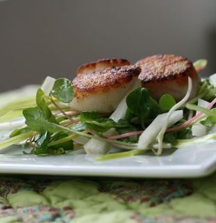 Panseared scallop salad