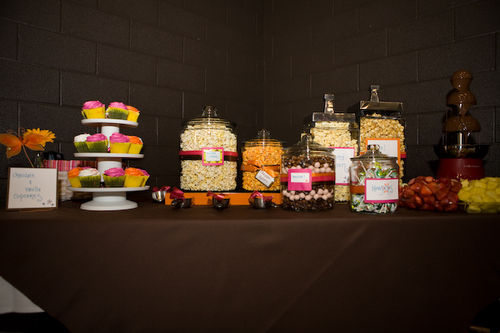 candy and popcorn bar