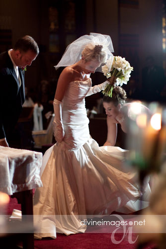 Bride in full view