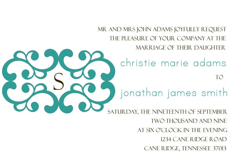 Blue and brown invitation