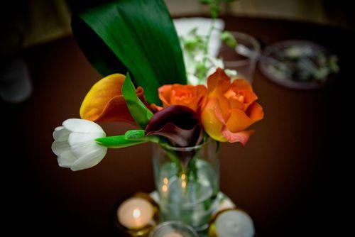 calla lily, tulip, and rose