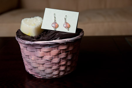 Earrings and soap