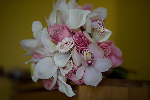 Cymbidium Orchids Bouquet Cymbidium Orchid And Rose