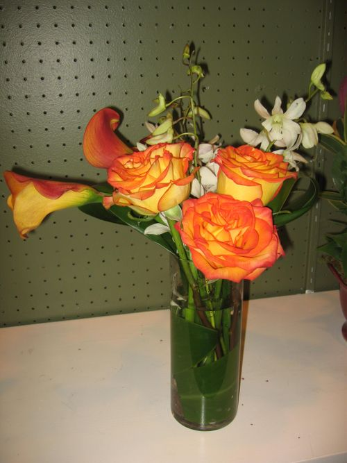 Mango callas with high and magic roses